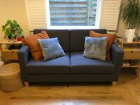 Grey Habitat Two Seater Rosie Sofa Bed RRP £465 - less than three months old - like new