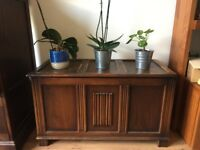 Sturdy stylish wooden chest up for grabs.