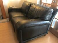DFS two seater leather sofa