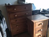 chest of drawers and bedside drawers set