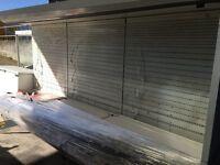 2 x 12ft commercial chillers shop fridges (also freezer, compressors etc)