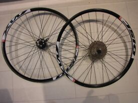 MTB Wheels 26 inch 10 speed.