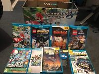 Wii U with games, Xbox one games