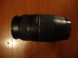 Tamron 70-300mm lens for Canon EF - Manuel focus only