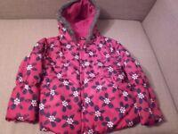 Padded girls' coat 4-5 years (104-110cm)