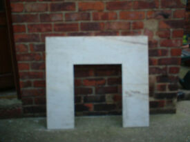 MARBLE FIRE SURROUND WITH CUT OUT FOR FIRE REAL MARBLE HEAVY