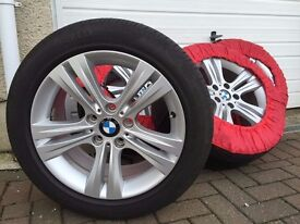 "4x Genuine BMW 17"" Alloy Wheels (Style 392) with Pirelli Tyres (for F20, F21, F30, F31, F32 models)"