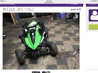 Big size quad 125cc runs mint cud do with a new battery nippy little thing selling due to space