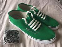 Men's green VANS UK Size 8.5