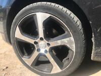 """VW 18"""" GTI style alloys + tyres"""