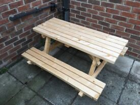Wooden children's picnic table