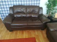 Brown leather sofa 3 +2,