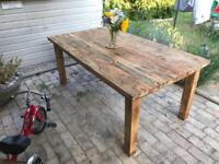 Solid wood large table beautifully refurbished