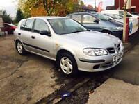 NISSAN ALMERA 1.5 5 DOOR LOW MILES LONG MOT ONLY £495