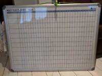 Yearly planner magnetic white board