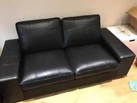 Reduced - Ikea Kivik bomstad black 2 seat sofa