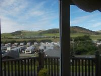 WOW! bank hol 29 August- 1 Sept 3 nights Clarach Bay chalet sea/hill views Aberystwyth, Wales
