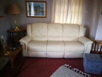 Two peace and three peace leather sofa