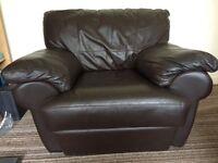 Armchair ( Italian brown leather)