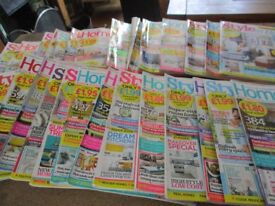 Job lot of home decor magazines.