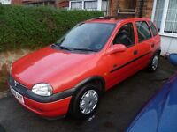 VAUXHALL CORSA 1.4L, 1998 REG, VERY TIDY THROUGHOUT WITH FULL MOT, NEW CAMBELT, CLUTCH & HPi CLEAR