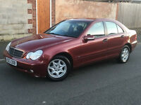 2003*MERCEDES C180 KOMPRESSOR CLASSIC SALOON*AUTOMATIC*LOW MILES*8 MONTHS MOT*ALLOYS*WARRANTY