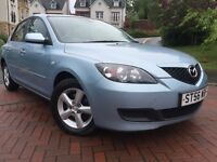 *3 MONTHS WARRANTY*2007 MAZDA 3 1.6 DIESEL 5DR HATCH WITH ONLY 76K-MOT JAN 2017*