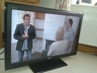 """Sony Bravia 37"""" LCD TV, black with remote control"""