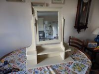 Painted bedroom mirror and d stand