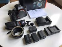 Sony A7R II Very Good Condition, Boxed with 4 batteries and eos adapter