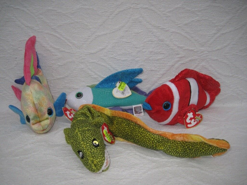 Ty Beanie Babies: fish & eel