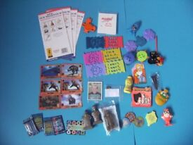 Assorted Xmas toys. A bit of a lucky bag. Excellent Xmas cracker fillers. Never used.