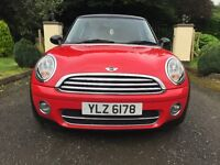 March 2010 MINI COOPER D, Red with Black Roof + Black Alloy Wheels