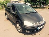 1 OWNER 05' FORD GALAXY GHIA 1.9 TDDI ALLOYS 7 SEATER DIESEL FSH 10 STAMPS, TOW BAR, 130BHP