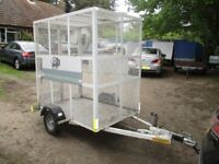 6-0 X 4-0 X 6-0 (BRAKED) STEEL MESH CAGED TRAILER.... INCLUDING ROOF....