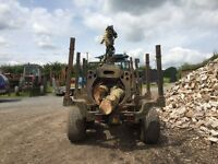 Timber Trailer Forwarder with Botex HIAB 2 ton lift