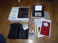 Nintendo DSi XL Dark Brown plus Leather Case AS NEW