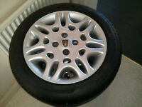 4x original Rover 25 alloy wheels & tires