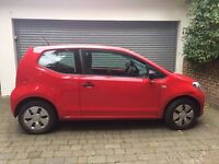 VW Up Red, 3 door. Kent/Sussex. Bargain for quick sale (moving abroad for work) perfect order.
