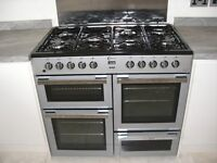 Flavel Milano 100 Dual fuel Cooker MLN10FR I year old in immacualte condition, plus extraction hood
