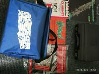 Clarinet buffet b 12 with books and soft case