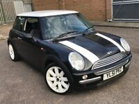 2002 MINI COOPER 1.6 PETROL MANUAL BLACK WHITE 3 DOOR HATCHBACK MOT CHEAP INSURANCE N 1 SERIES ONE