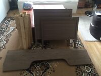 Childten's Ikea grey/brown bed with mattres.Very good condition.