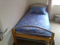 Single bedframe wood and metal