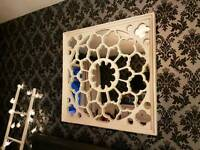 Large Moroccan Wooden Mirror