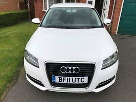 AUDI A3 (2011) SE TDI 5 Door Diesel White, Immaculate in & out non-smoker, no pets. Full S. History