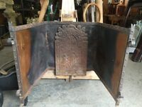 Old Fire Insert with back plate