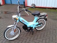 Tomos Classic 50cc in stunning Mint Green. First on road in 2015, Excellent Condition
