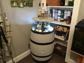 Whisky Barrel with hidden drinks display