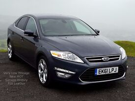 Very LOw Mileage 2011 61 Ford MONDEO Titanium-X 2.0 Diesel PowerShift, Full Leather, Service History